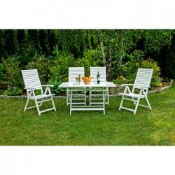 Záhradný nábytok - Stôl + 4...